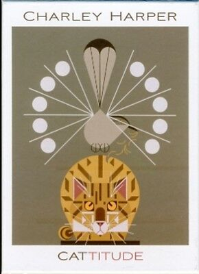 Charley Harper: Cattitude Notecards [With Envelope] (Boxed Noteca. 9780764953798