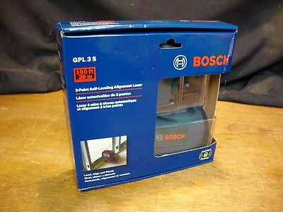 BOSCH GPL 3 S 3-Point Self-Leveling Alignment Laser Level ~ 100ft/30m