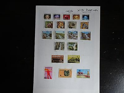 13 x Album Pages - Africa Issues (Used / UMM) - Useful ?