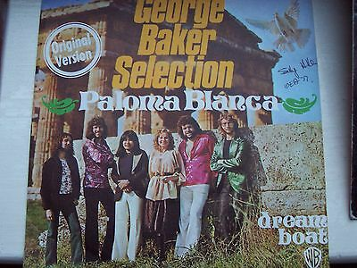 George Baker Selection, Paloma Blanca / Dream Boat. Rare German Pic Sleeve Issue