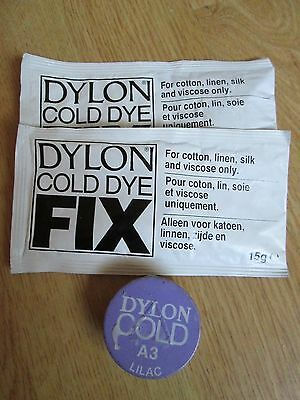 Dylon Cold Fabric Dye Lilac & Cold Dye Fix New Sealed Re Clothes, Furnishings