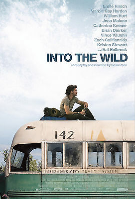 Into the wild movie poster approx size 21cm x 30cm