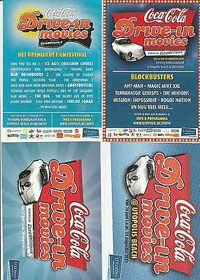 4 coca-cola postkarte postcard carte postale drive in movies