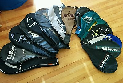 Assorted Tennis Racquet Covers Cases