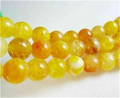 """8mm Yellow Dragon Veins Agate Round Gemstones Loose Beads 15"""" AAA ##ZY0047"""