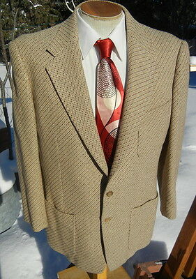 Swing 1950s Patch Pockets Hollywood Sport Coat 44S - Alterable, Comfy Jacket
