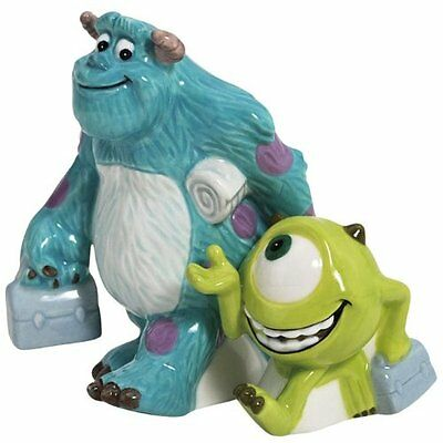 Monsters Inc Mike Wazowski & Sulley Ceramic Magnetic Salt & Pepper Shakers