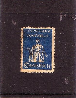 Angola 1929 - SGNo.C347 Used 50c. Blue - Charity Tax Stamp