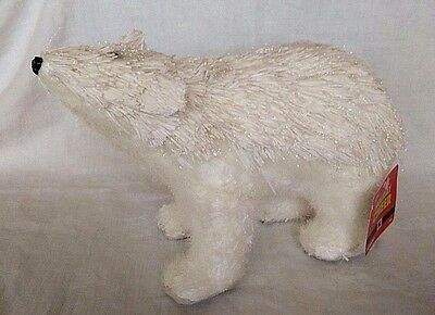 Polar Bear Christmas Decor Joann Fabric Holiday Cheer White Glitter  New