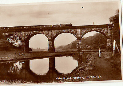 Northwich Vale Royal Arches  Viaduct And Train Crossing Rp