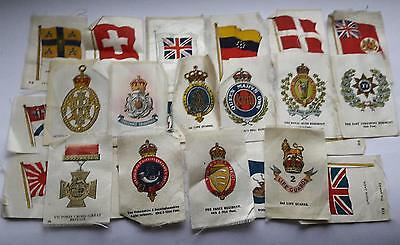27 X Godfrey Phillips BDV Large Silk Cards Flags Medals Crests Victoria Cross