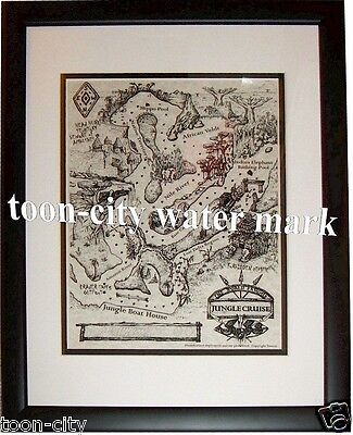 Official Disneyland Jungle Cruise Skipper Map Boat Guides NEW unused condition