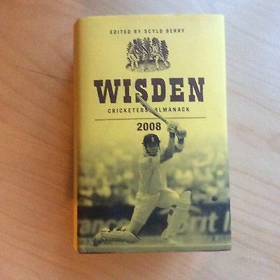 2008 Wisden Cricketers' Almanack Hard Backed Dust Jacket