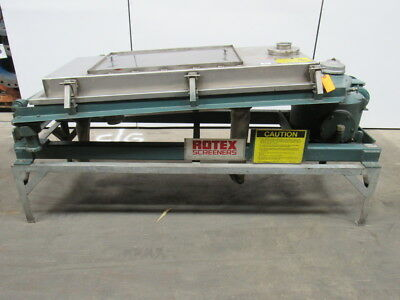 "ROTEX 201PS SS/SS Screener 460V 3Ph 2 Deck ? 55""x25"" Screen Area"