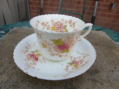 Antique Crown Royal Albert Cup and Saucer with Flower Design