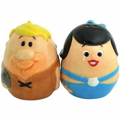 The Flintstones Barney & Betty Egg Ceramic Magnetic Salt & Pepper Shakers