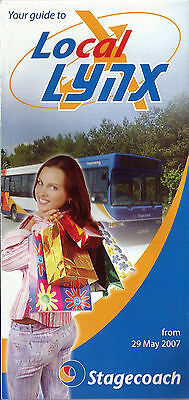 Stagecoach East Midlands Local Lynx Worksop area Route Map/Timetables - 2007