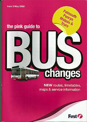 First Western National Falmouth/Truro Timetable book - May 2009