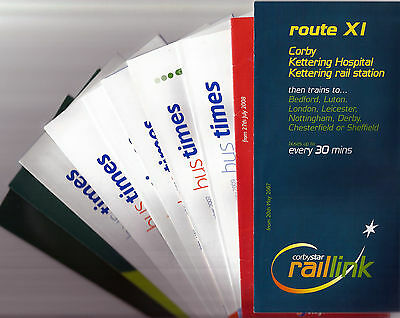 Stagecoach in Northants Timetable leaflets - 2006-09