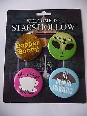 Stars Hollow Monthly Lit Cube Set of 4 Pins Copper Boom In Omnia Paratus NEW
