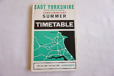 East Yorkshire Motor Services Bus Timetable 1966 with Map