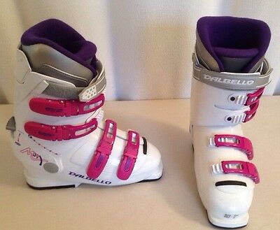 Size 25.0 Dalbello Ski Boots 286 mm women USA 7 to 7.5 White Pink Purple