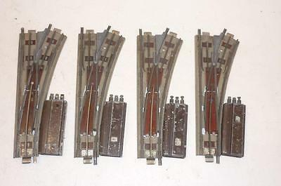 4 x HORNBY DUBLO 3 RAIL ELECTRICALLY OPERATED R/H POINTS - EODPR.              e