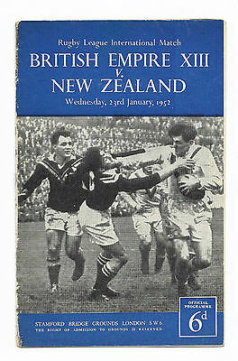 1952 Rugby League - BRITISH EMPIRE XIII v. NEW ZEALAND (at Chelsea FC)