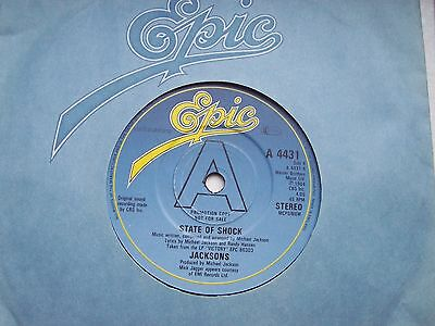 The Jacksons, State Of Shock / Your Ways. Rare 1984 Epic Promo Copy