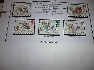 G B 1993 Christmas Set Mint Unmounted Stamps