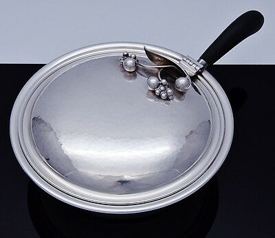 Rare Poul Petersen Hand Hammered Sterling Silver Mid Century Entree Serving Dish