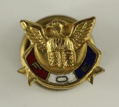 Vintage Jewelry Service Fraternal Order Of Eagles 9MM Lapel Membership Pin