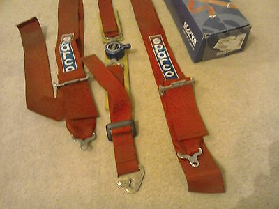 SPARCO HARNESS BELTS 4 POINT RACE RALLY GRASSTRACK 4x4 BUGGY TRACK FIELD RED.