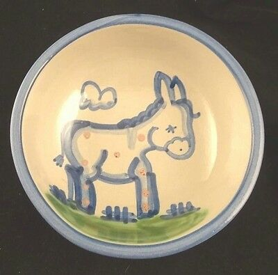 """M.A. Hadley Pottery Country Donkey Cereal Bowl 5.5"""" USA"""