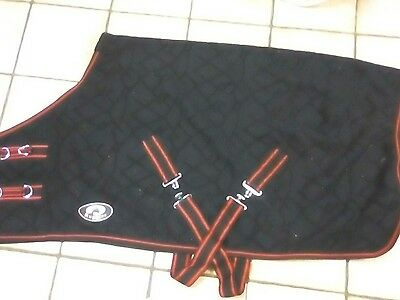 """4' 0"""" small horse/ pony black fleece by Ruggles"""