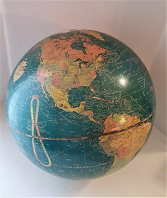 Antique World Globe early 1900s Includes Siam Palestine Peiping No Stand