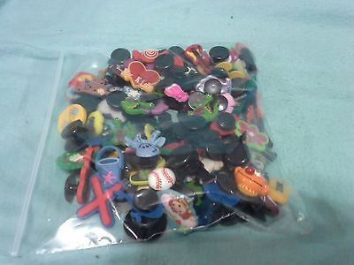 100 Random Shoe Charms for Crocs, Bracelets, Rings ..GREAT FOR KIDS PARTIES