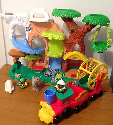 Fisher Price Little People Zoo Talker & Truck Both With Sounds Animals Figures