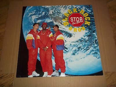 black, rock & ron 'stop the world' 1989 US press/UK sleeve EX/EX- hip-hop.