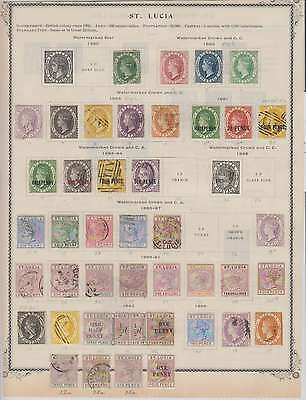 B8043: 19th C St Lucia Stamp Collection; CV $1902