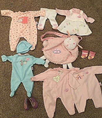 Zapf Creation Baby Annabell Clothes Bundle - 9 Items
