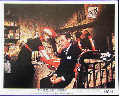 The Counterfeit Traitor 1962 William Holden 2 Original US Lobby Cards