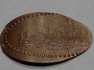 """COLORADO BELLE LAUGHLIN, NEVADA-Elongated / Pressed Penny-""""copper"""" N-204"""