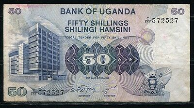 Paper Money Uganda 1979 50 shillings VF