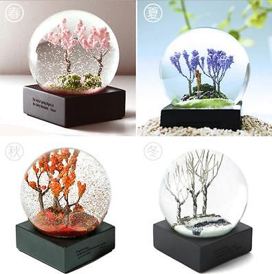 Four Season Crystal Ball Without Base Glass Globe Valentine's Day Birthday Gift