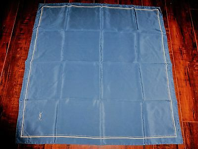 Really BEAUTIFUL Yves Saint Laurent 100% Silk 26 x 26 YSL SCARF Goes with alot