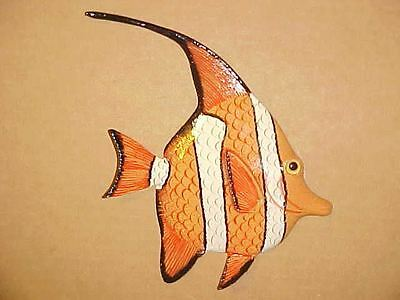 "6"" TROPICAL FISH Wall Decor Bath Beach Nursery Aquarium Nautical Ocean Aquatic"