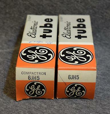 Estate NOS GE 6JH5 Electronic Vacuum Tube Untested Guaranteed To Work x2