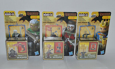 KRE-O Dungeons & Dragons Collection 1 Minifigure Lot of 3 NEW Vasni Lord Drizzt
