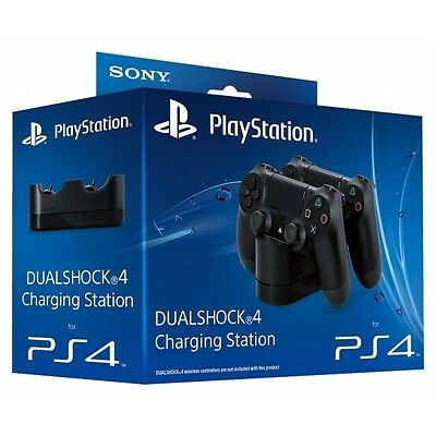 Official Sony PlayStation DualShock 4 Charging Station (UK Plug) PS4 Brand New